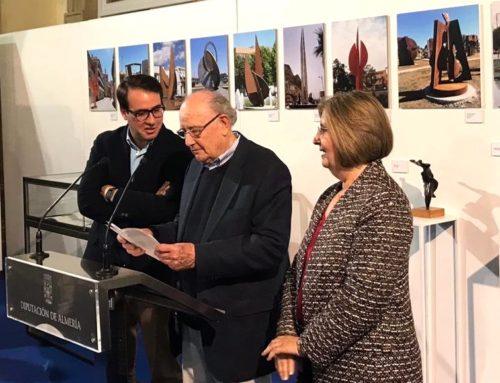 Inauguración de la exposición antológica en el Patio de Luces de la Diputación de Almería,  marzo de 2019